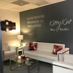 Lighthouse massage kitty kat wax waiting area